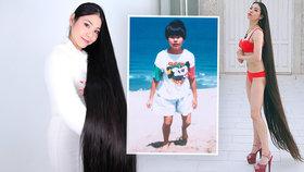 Jako malá musela mít krátké vlasy: V dospělosti si to kráska vynahrazuje