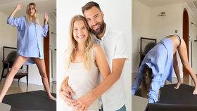 Těhotná Jitka Nováčková má obavy z porodu: Ochablo mi tělo!