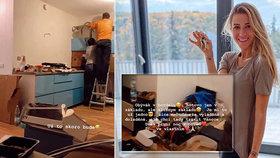 Veronika Kopřivová zařizuje vysněný byt s obří terasou! Modrá kuchyně? To snad ne!