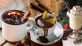 Lahodné vánoční drinky: Punč, horká čokoláda i vaječňák s kávovým sirupem!