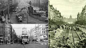 FOTO: Tramvaje na Václaváku přestaly jezdit před 40 lety. Jak to tehdy vypadalo a kdy se vrátí?