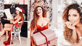 Sexy Vánoce podle Olgy Lounové: Rudý korzet praskal ve švech pod náporem bujných vnad!