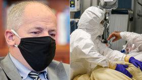 Prymula promluvil o černém lednu v Česku: 20 tisíc případů denně a zahlcené nemocnice