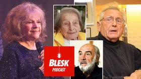 Blesk Podcast: Tichý Menzel, elegantní Connery a energická Pilarová. Vzpomínání na osobnosti zesnulé v roce 2020