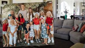 Jak bydlí rodina s 16 dětmi: Kuchyně jako malý byt, obrovský obývák i domácí posilovna