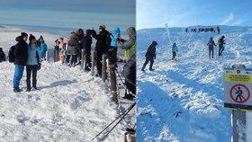 Přeplněná Sněžka nejen turisty? Co si přinesete, si taky odneste, upozorňuje Agrární komora