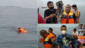 Zmizení boeingu 737 popsali rybáři: Výbuch, pak obrovský stříkanec, pak kusy těl, oblečení a trup letadla