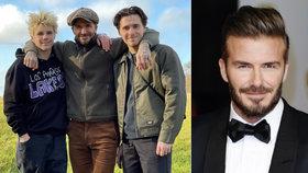 David Beckham se pochlubil syny: Tři fešáci v holínkách!