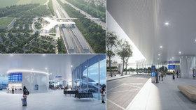 První terminál vysokorychlostní železnice vyroste u Nehvizd. Vítězný návrh vypadá futuristicky