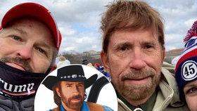 Chuck Norris, nebo »ošklivější dvojník«? Herec se brání nařčení, že podporoval útok na Kapitol!
