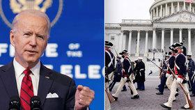 """""""Tohle není cvičení!"""" Požár poblíž Kapitolu přerušil generálku na Bidenovu inauguraci"""