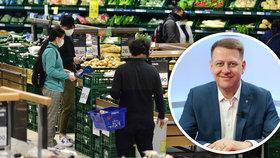 Kvóty na české potraviny: Jídlo skokově zdraží, hrozí černý trh, varuje Prouza