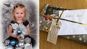Majitel zatoulaného vánočního dárku děda Petr (73) se našel! Poslala mu ho Lilly (3)!