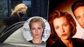 Legendární agentka Scullyová z Akt X je v Praze! Na natáčení přiletěla soukromým tryskáčem