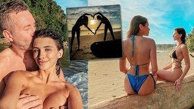 »Erotika na třetí« během dovolené?! Bisexuální modelka Daniela je u moře se snoubencem i milenkou