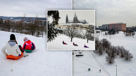 Zasněžená Praha láká k zimním radovánkám. Kam vyrazit sáňkovat nebo na lyže?