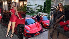 Takhle slavila Valentýna zlatá mládež: Stovky růží i luxusní sporťáky za miliony!