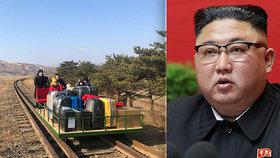 Diplomaté chtěli pryč z KLDR: Museli ručně tlačit drezínu s kufry, Kim zastavil dopravu