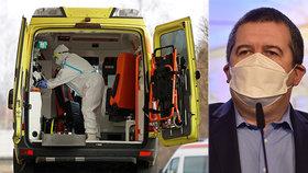 """""""Alarmující čísla,"""" hrozí se Hamáček. Do nemocnic chce povolat ambulantní lékaře, dochází ruce"""
