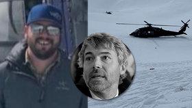 Pilot Zachary (†33) zemřel s Petrem Kellnerem (†56): Tělo našli mimo vrtulník! Vylezl sám?