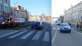 Auto v Budějovicích srazilo chodce na přechodu: Následujícího dne zemřel v nemocnici