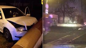 Policejní honička skončila vyhoštěním! Opilý cizinec (20) ujížděl kradeným autem, pak utíkal v papučích