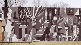 Vltavská dostane nový mural. Autor se inspiruje okolními uměleckými díly