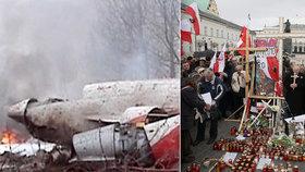 Katastrofa u Smolensku: Pietu Poláků po 11 letech doplňují demonstrace odpůrců koronaopatření
