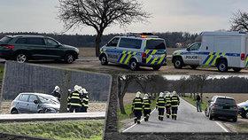 Tragédie na Nymbursku: Při čelní srážce zemřel muž, zraněno mělo být i dítě