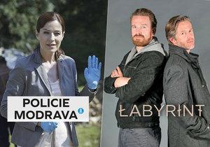 Prvomájový souboj o diváka vyhrála Policie Modrava: Strachův Labyrint až za Modrým kódem