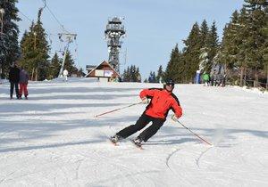 Šumavu zasypal sníh a hlásí ideální podmínky: Lyžaři i běžkaři si zajezdí všude