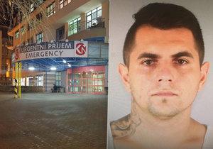 Při transportu z nemocnice v Boleslavi utekl nebezpečný lupič: Policisté museli střílet!