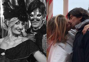Tereza Maxová s manželem: Řádění v maskách a líbačka v srdci Benátek!