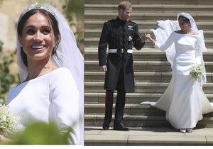 Svatební šaty Meghan Markle: Budete si je moci prohlédnout zblízka
