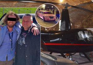 Vrtulník smrti pilotoval bohatý kamarád Kajínka! Růžovou limuzínou vjel na Karlův most