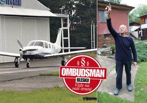 Zoufalý Václav Vaněček (78): Nad domem mu řve stovka letadel denně! Co na to Ombudsman Blesku?