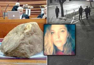 Mrazivé foto od soudu: Tímto 37kilovým kamenem zabili krásnou Hannu (†21)! Předtím ji brutálně znásilnili