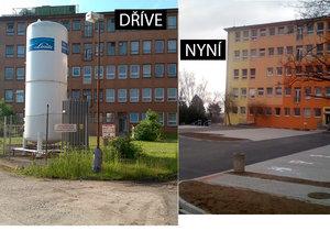 V nemocnici na Borech přibyla parkovací místa: Obří zásobník s kyslíkem musel pryč.