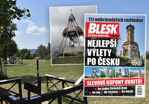Inspirace na 111 výletů a desítky slev nejen na vstupné: Navštivte i nejnižší rozhlednu ČR