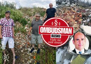 Nerovný boj občanů Vedrovic proti černé skládce i starostovi: Co radí Ombudsman Blesku?