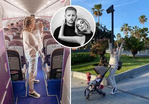 Markéta Konvičková est partie en vacances avec son fiancé et sa fille.