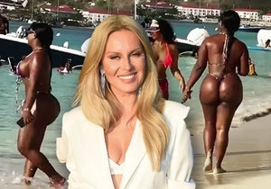 Simona Krainová a filmé et publié une femme étrangère aux courbes pleines sur la plage.  Elle a reçu des critiques pour cela.