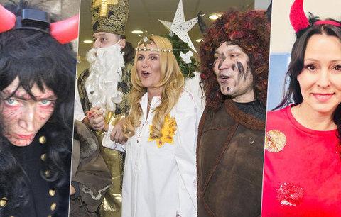 Mikulášská přehlídka hvězd: Čertice Geislerová, Mikuláš Vojtko a překvapení těhotné Maurerové!