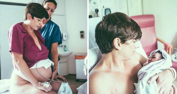 Umělec fotil porod syna. Skutečně emotivní a živočišné snímky!