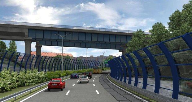 Vizualizace nepostaveného úseku městského okruhu v Praze. Jak bude nakonec vypadat?