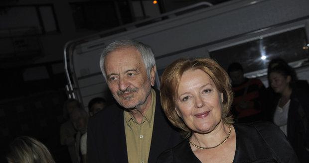 Milan Lasica s manželkou Magdou Vášáryovou.