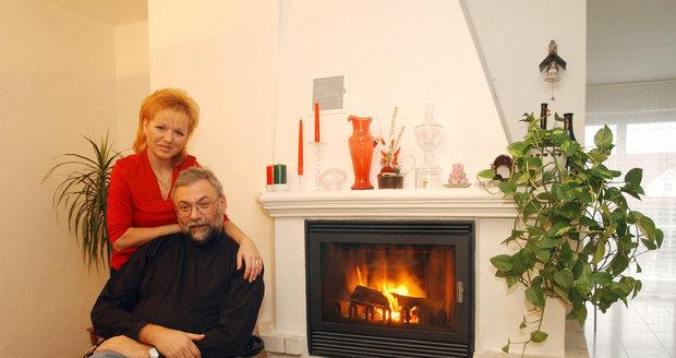 Josef Mladý (†63) s manželkou