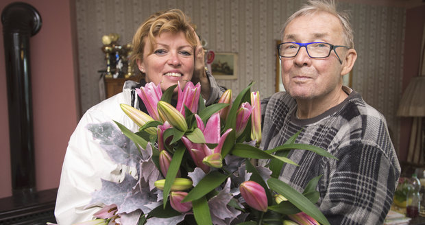 Rudolf Jelínek s manželkou Martinou v roce 2017 slavili 10. výročí svatby.