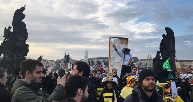 Průvod Sametové posvícení, 17. listopadu 2019.