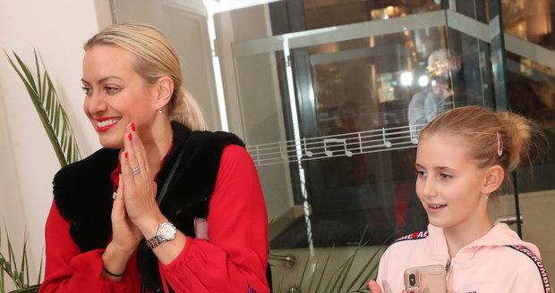 Tereza Mátlová s dcerou